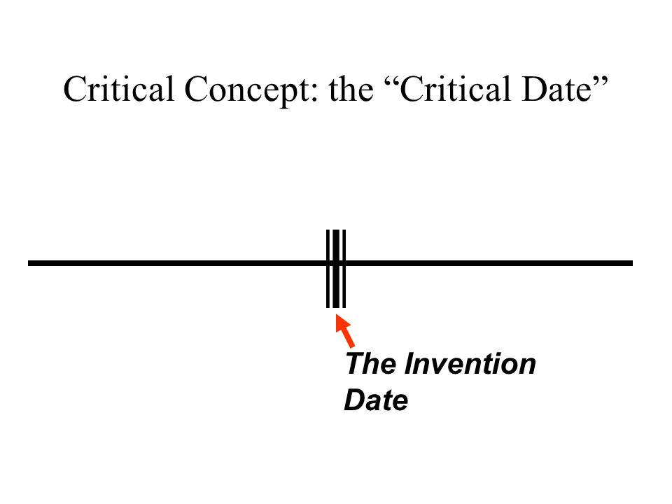 "Critical Concept: the ""Critical Date"" The Invention Date"