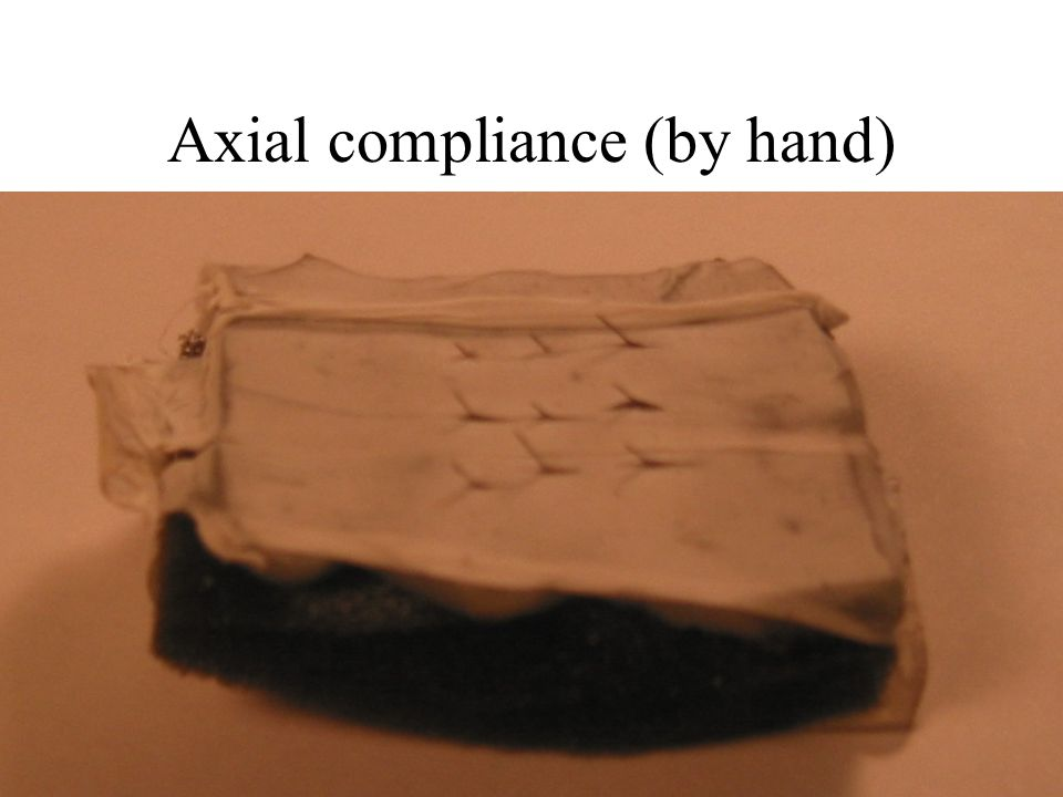 Axial compliance (by hand)