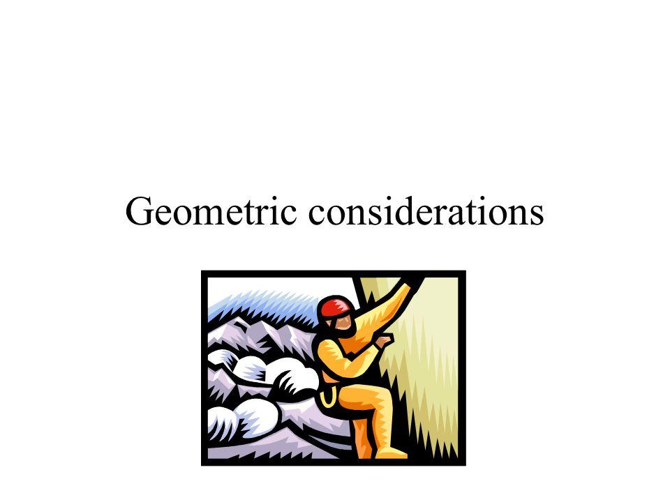 Geometric considerations