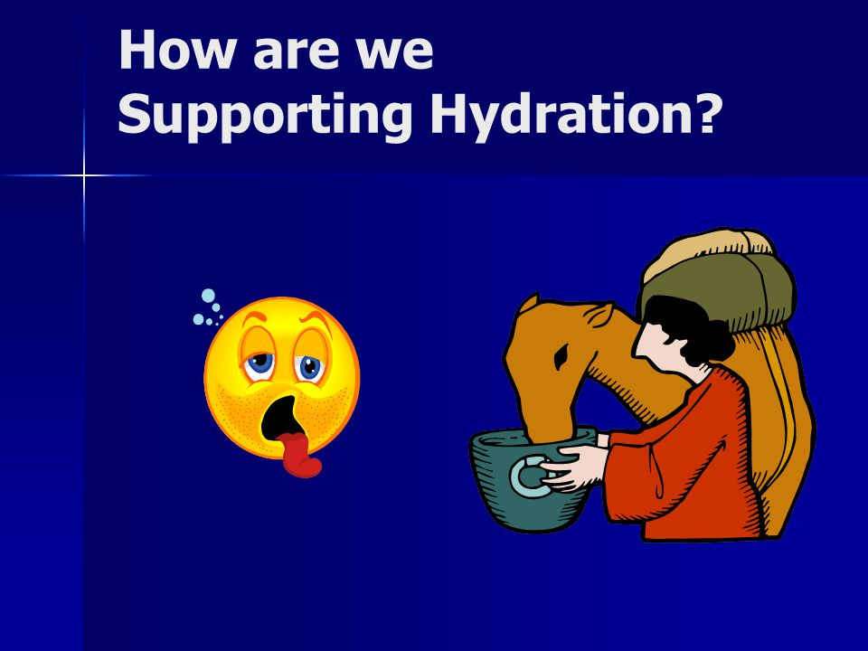 How are we Supporting Hydration