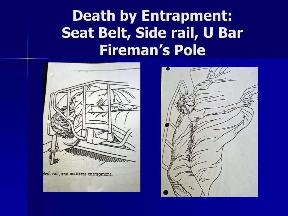 Death by Entrapment: Seat Belt, Side rail, U Bar Fireman's Pole