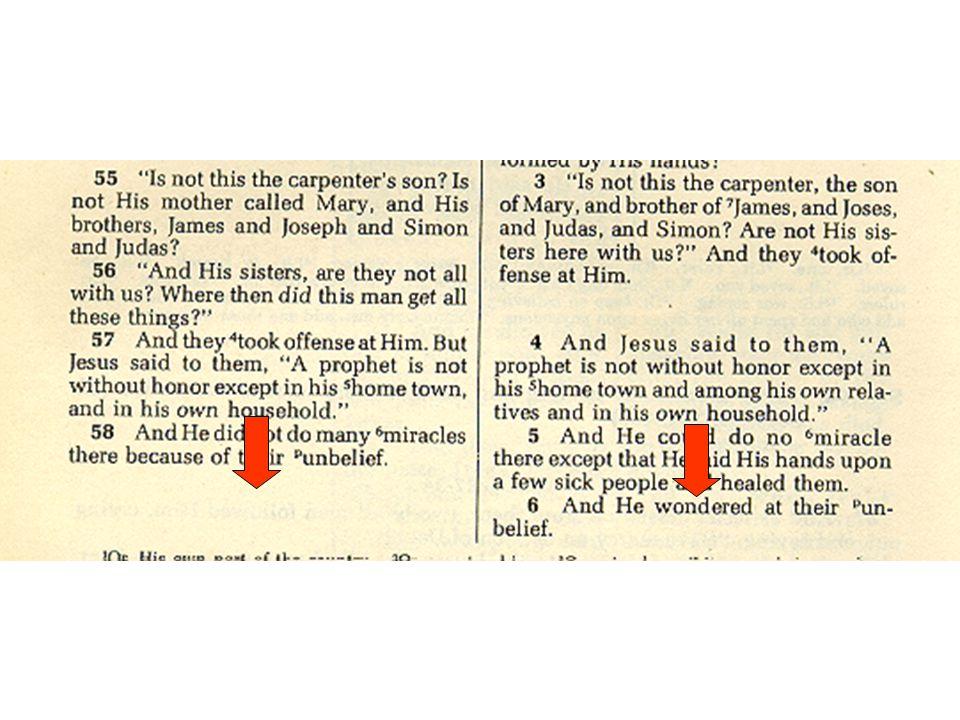 Unique Features of Mark 1.Flesh and Blood Gospel A.Jesus' limitations 1)Familiarity 93 2)Questions 124 3)Surprise 97