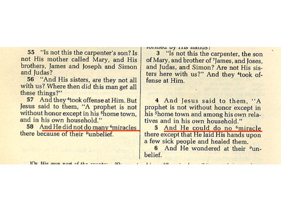 Unique Features of Mark 1.Flesh and Blood Gospel A.Jesus' limitations 1)Familiarity 93 2)Questions 124 3)Surprise 97 4)Failure 97
