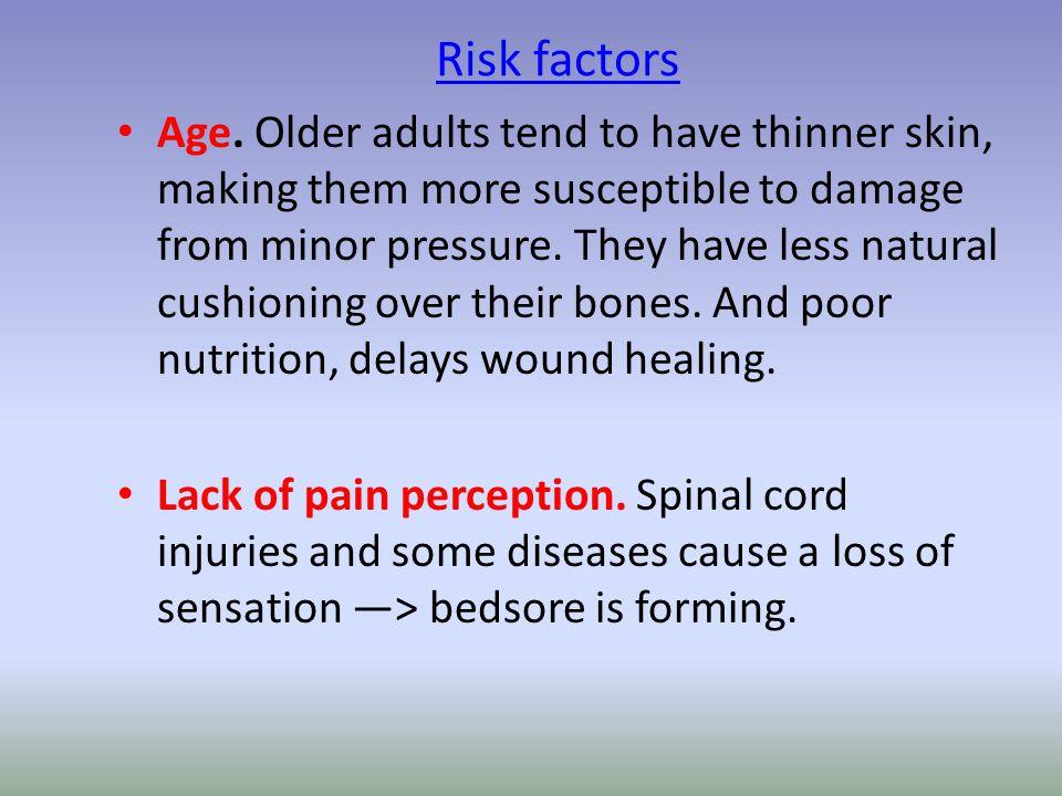 Risk factors Age.