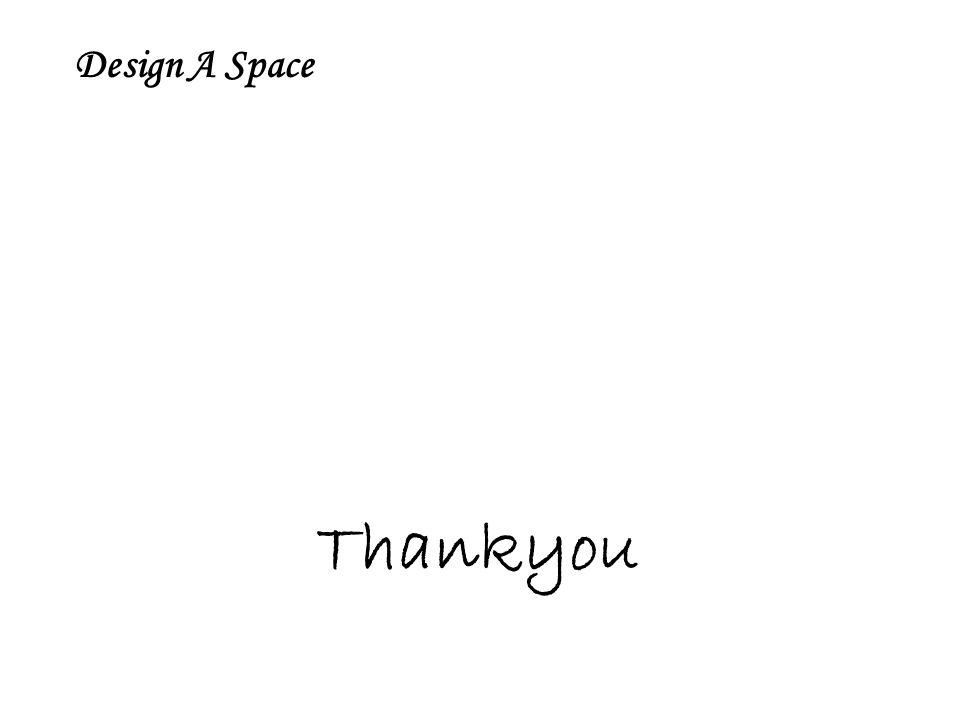 Design A Space Thankyou
