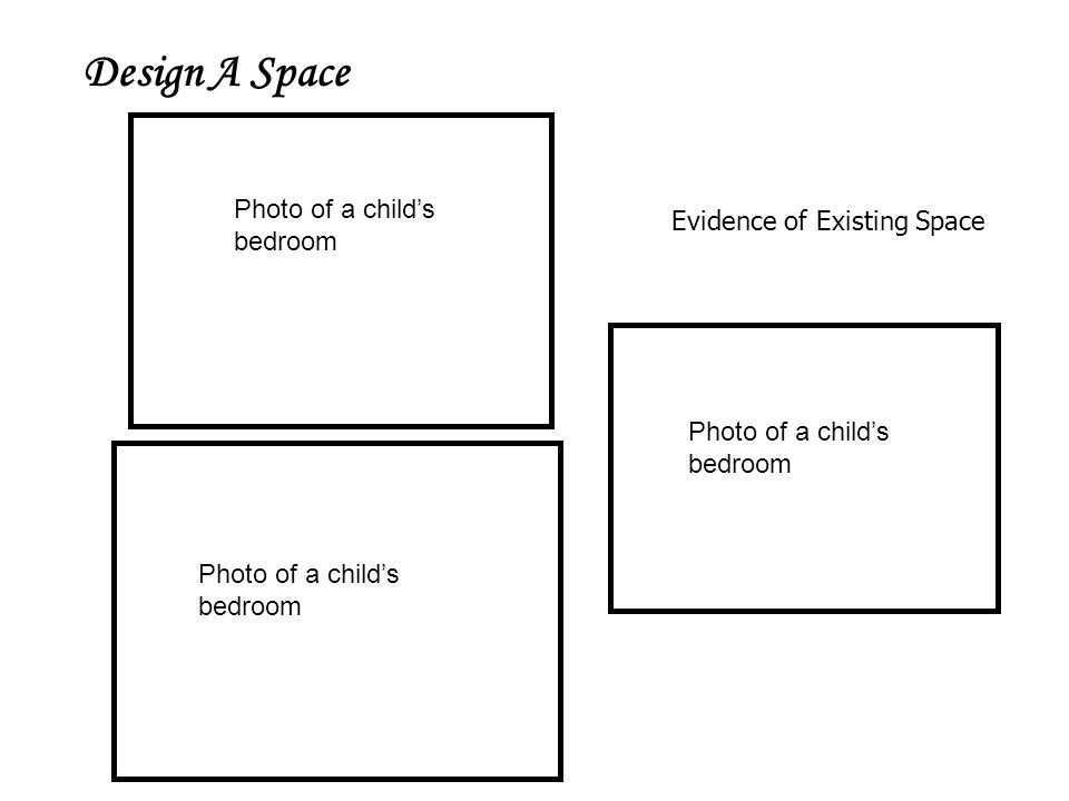 Design A Space Evidence of Existing Space Photo of a child's bedroom