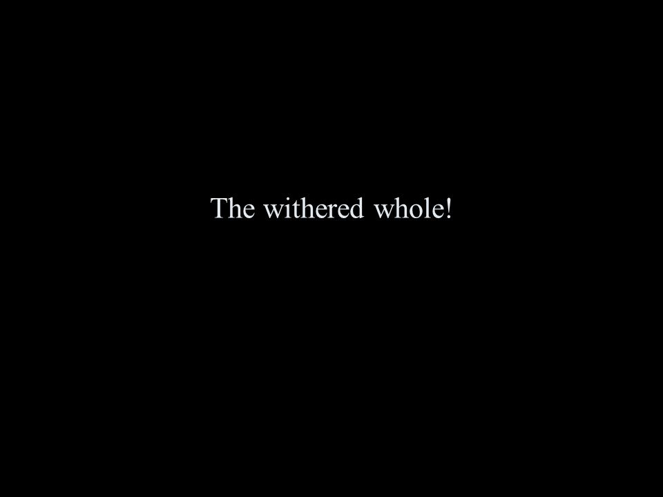 The withered whole!