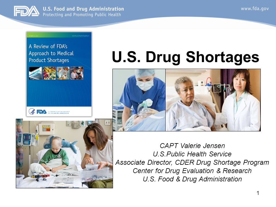 2 Overview U.S. Drug Shortage Trends Reasons for Drug Shortages FDA's Role View of the Future