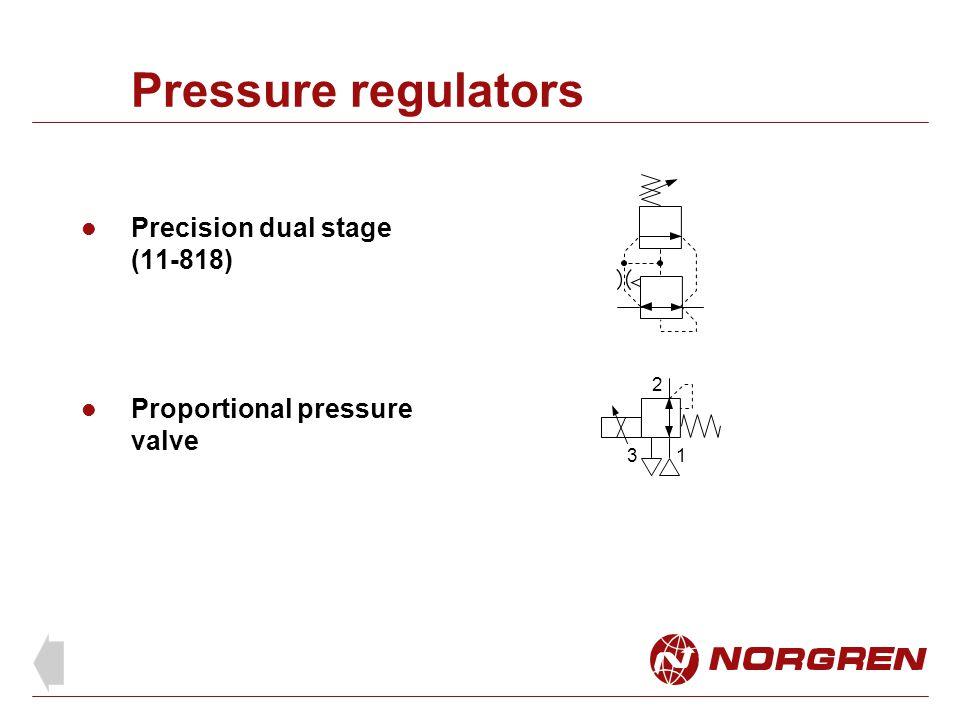 Pressure regulators Precision dual stage (11-818) Proportional pressure valve 1 2 3