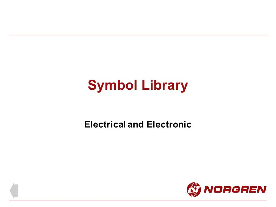 Symbol Library Electrical and Electronic