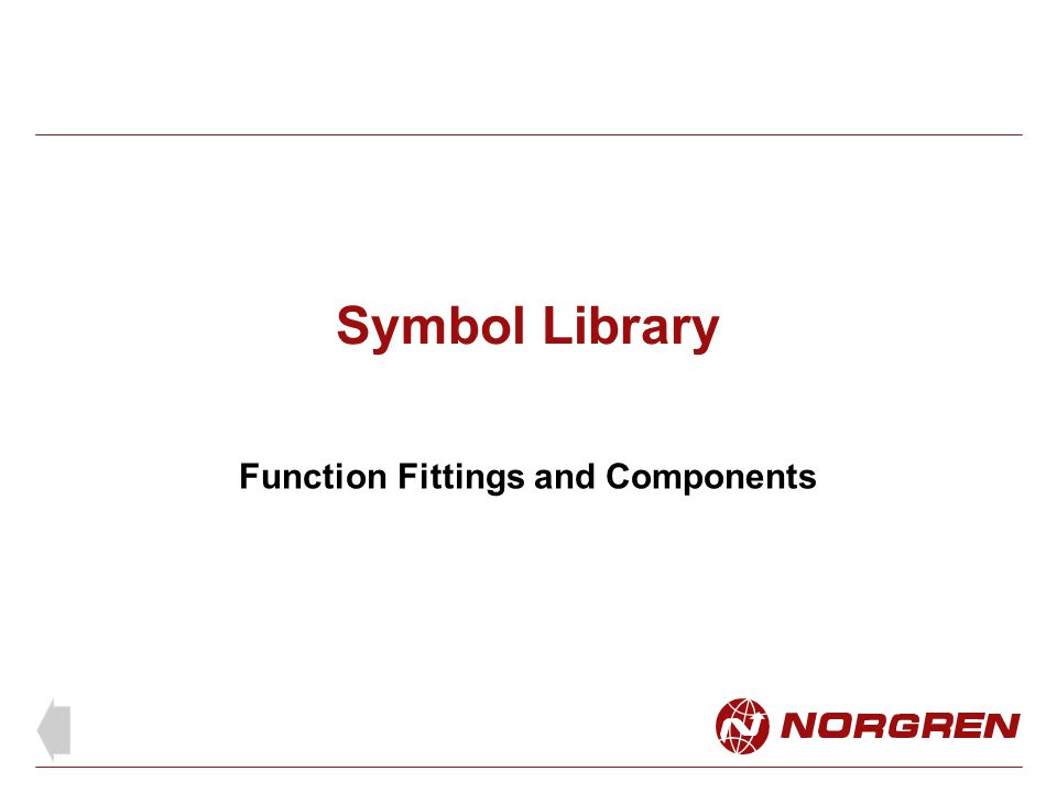 Symbol Library Function Fittings and Components