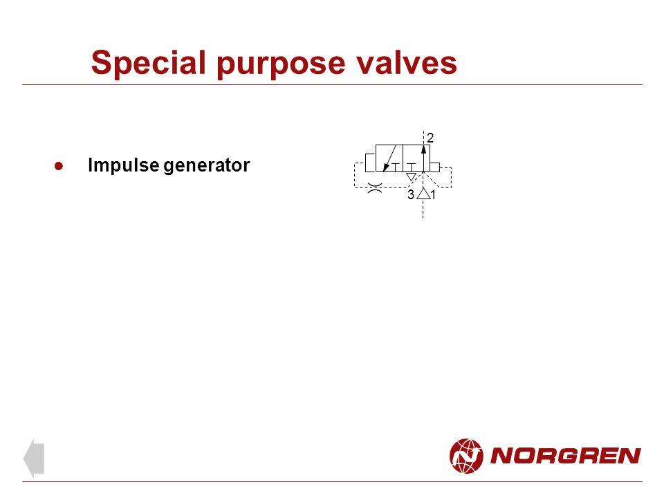 Special purpose valves Impulse generator 1 2 3