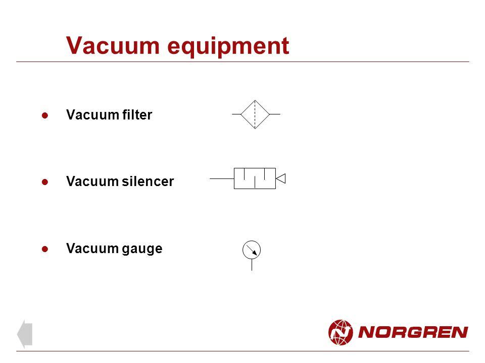 Vacuum equipment Vacuum filter Vacuum silencer Vacuum gauge