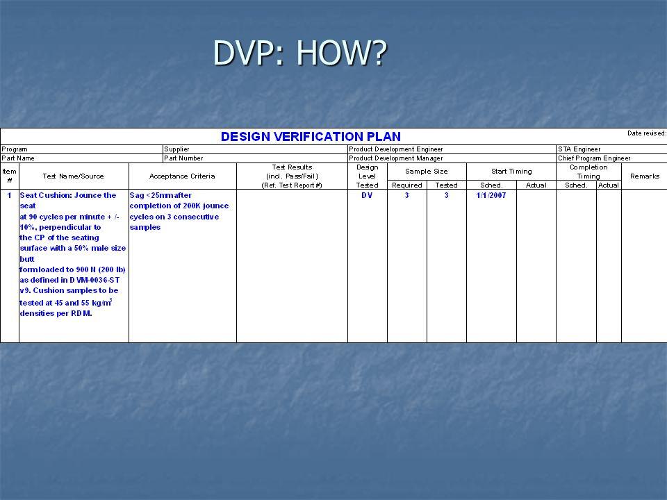 DVP: HOW?