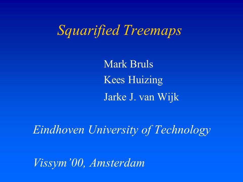 Squarified Treemaps Mark Bruls Kees Huizing Jarke J.
