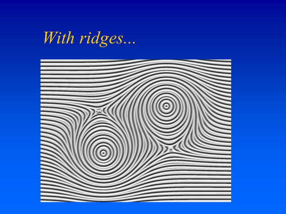 With ridges...