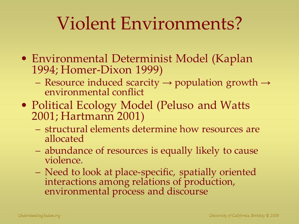 Violent Environments.