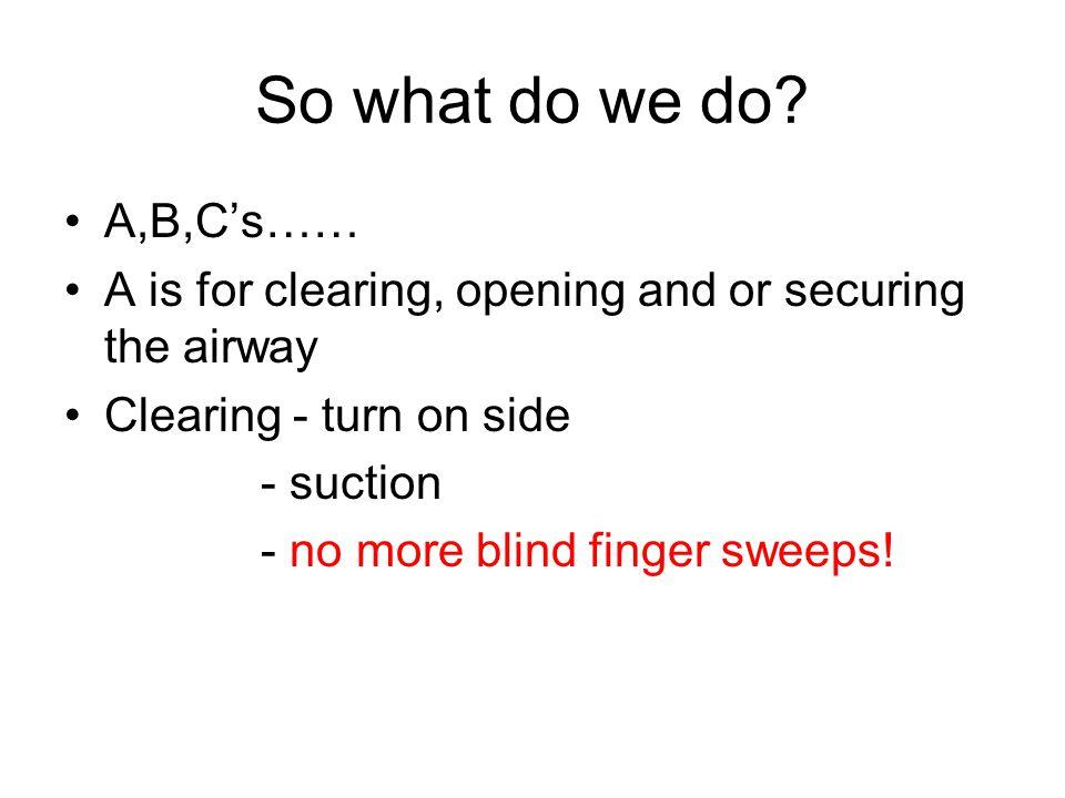 So what do we do.