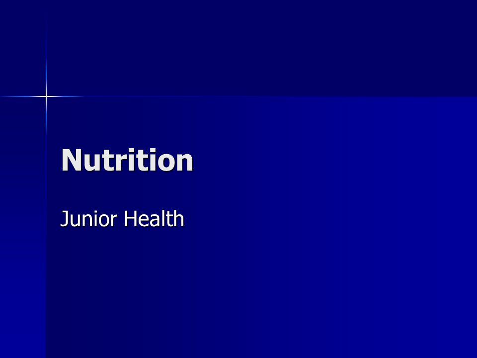 Nutrition Junior Health