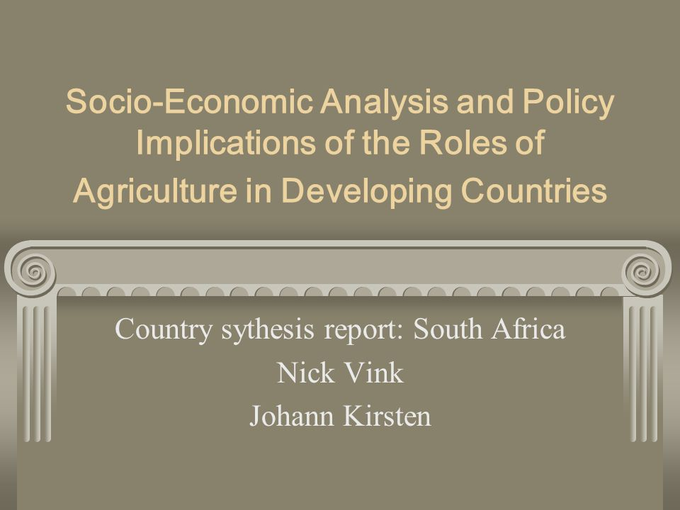 Structural effects on the roles of agriculture In the Western Cape, where export growth stimulates economic activity, the incomes of skilled workers have increased relative to urban incomes, suggesting a positive impact on rural poverty; Households involved in agriculture have a better nutritional status, thus the improvement of agricultural productivity has the potential to improve household and child nutritional status; The withdrawal of labour intensive public works programmes in rural areas has not only reduced employment but also failed to deliver much-needed infrastructure;