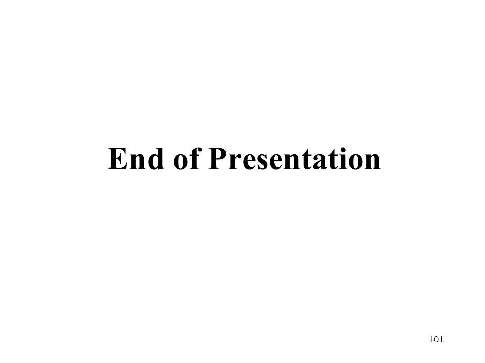101 End of Presentation
