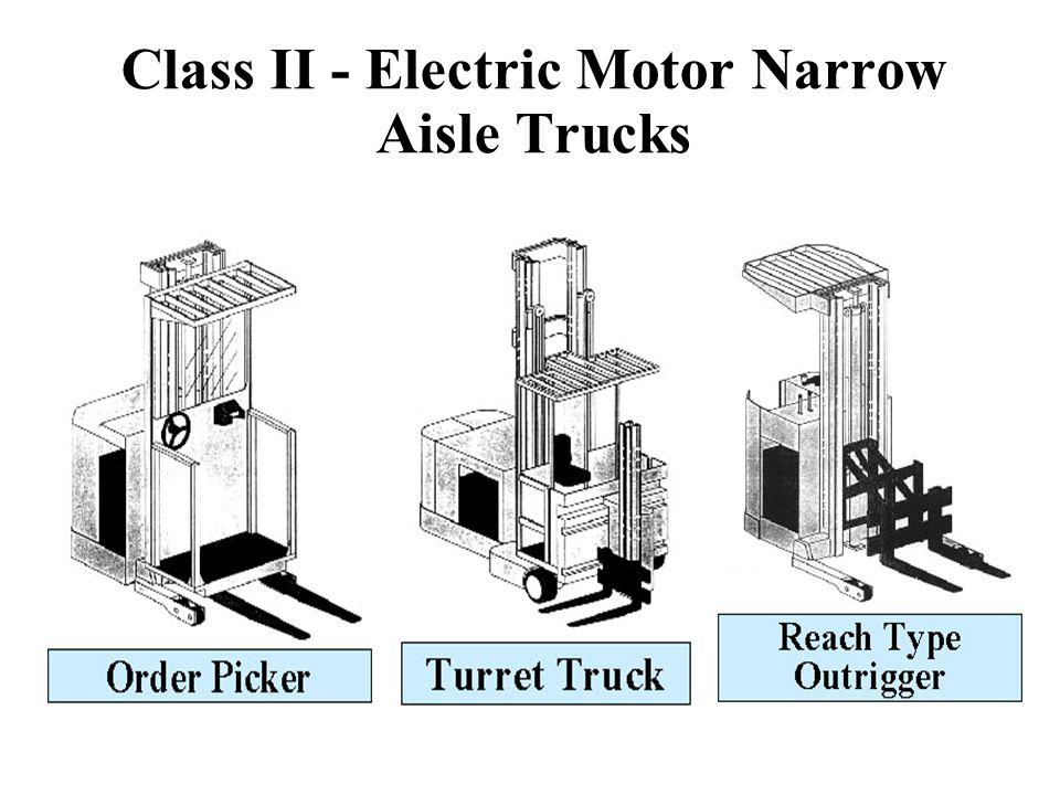 Class II - Electric Motor Narrow Aisle Trucks
