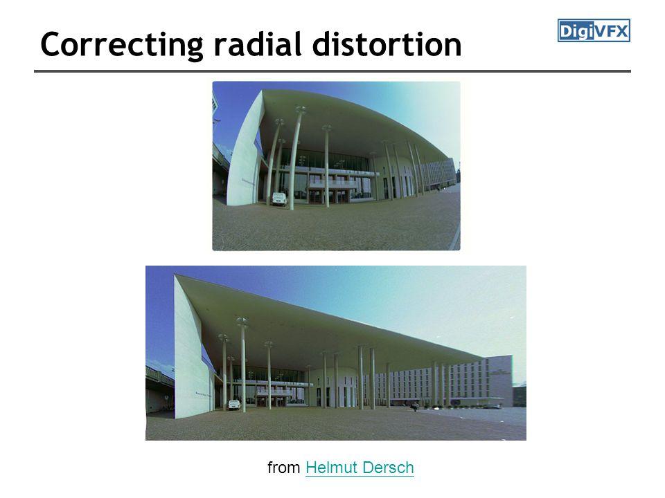 Correcting radial distortion from Helmut DerschHelmut Dersch