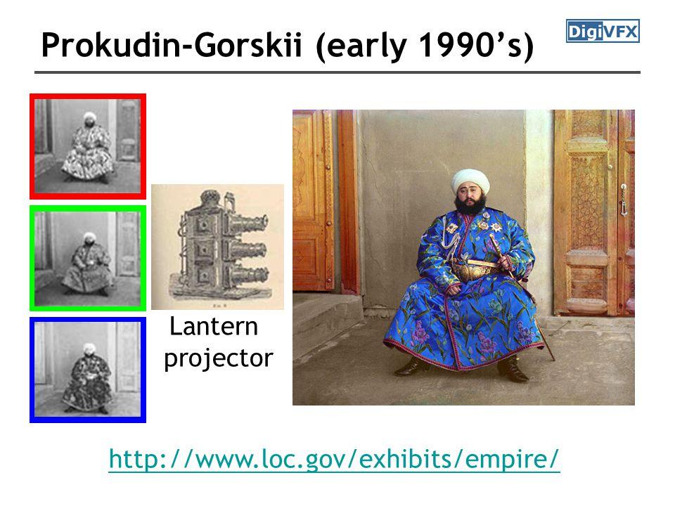 Prokudin-Gorskii (early 1990's) Lantern projector http://www.loc.gov/exhibits/empire/