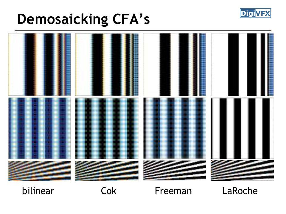 Demosaicking CFA's bilinearCokFreemanLaRoche