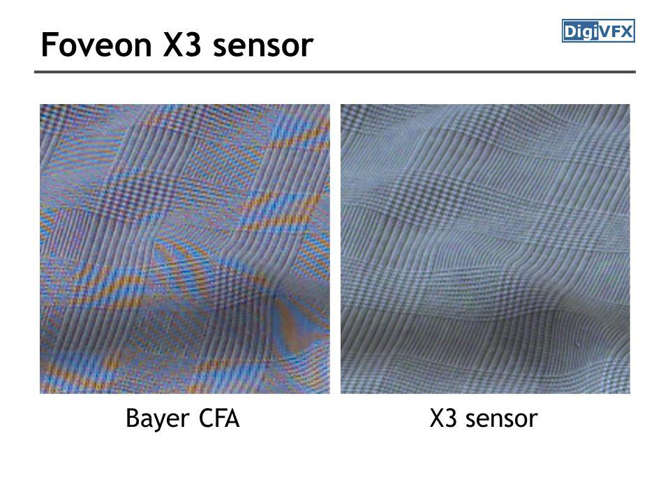 Foveon X3 sensor X3 sensorBayer CFA