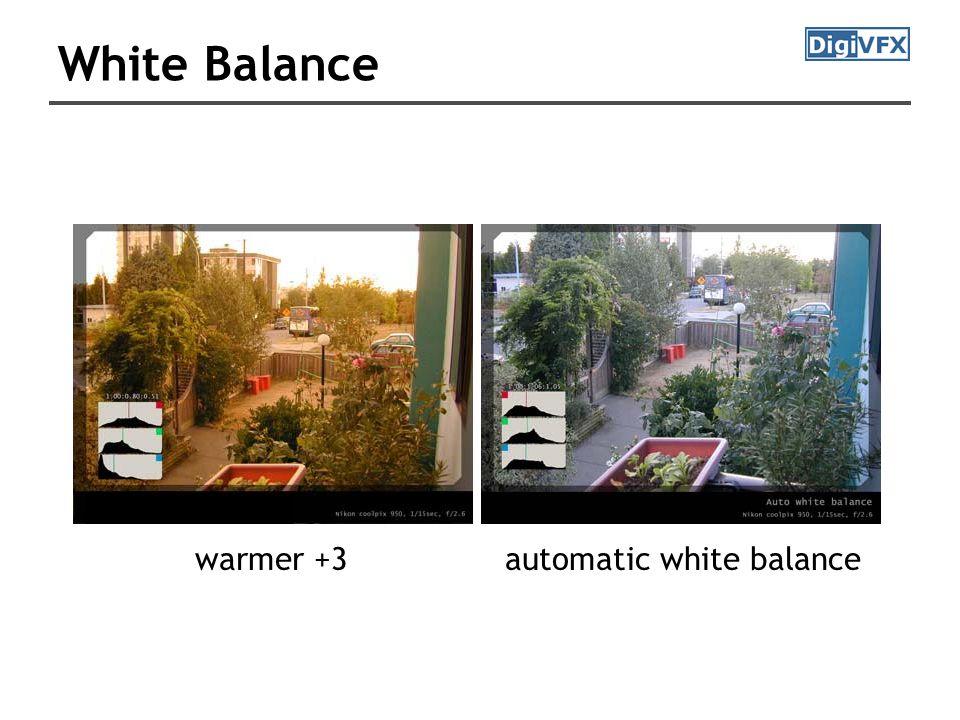 White Balance automatic white balancewarmer +3