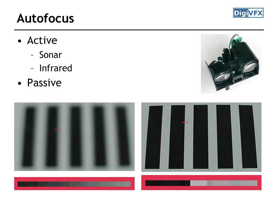 Autofocus Active –Sonar –Infrared Passive