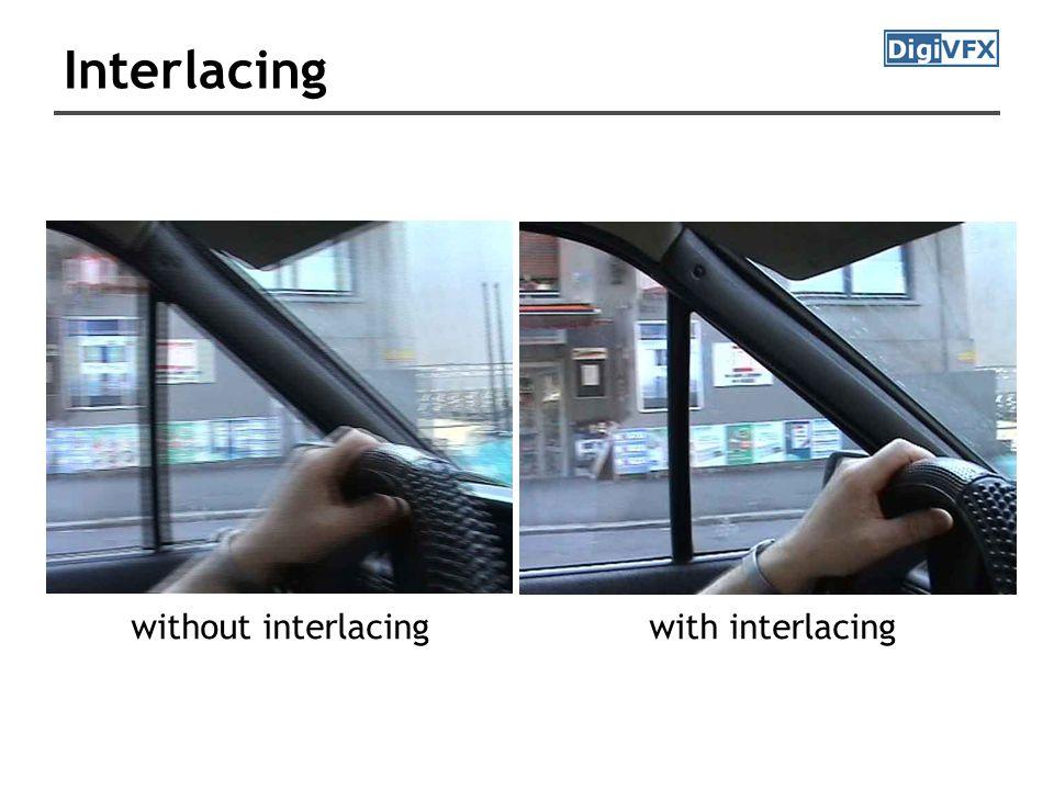 Interlacing with interlacingwithout interlacing