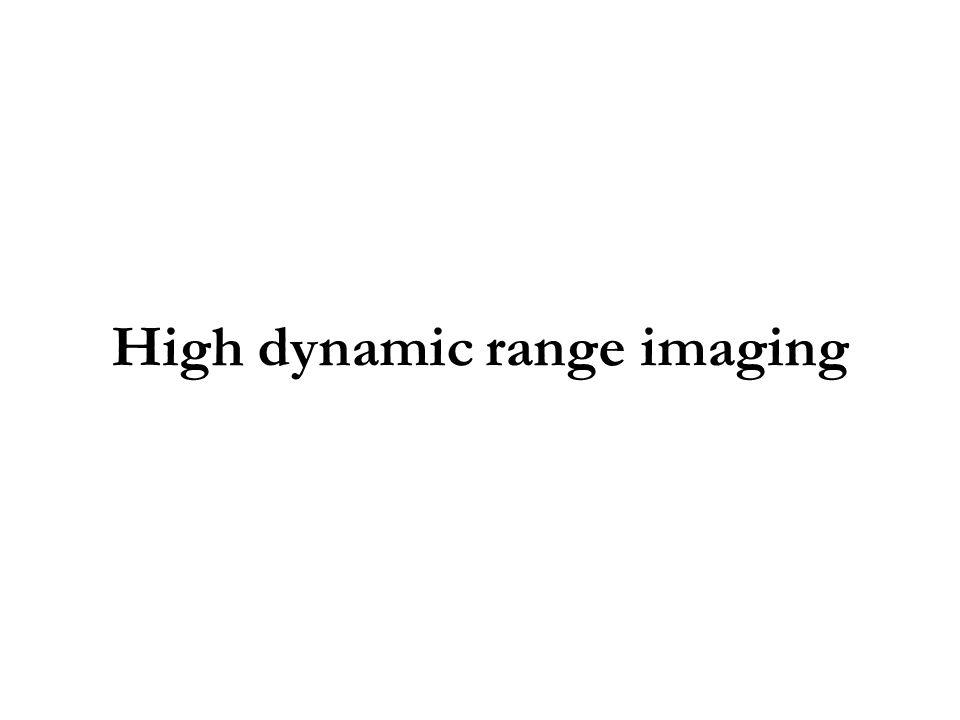 High dynamic range imaging