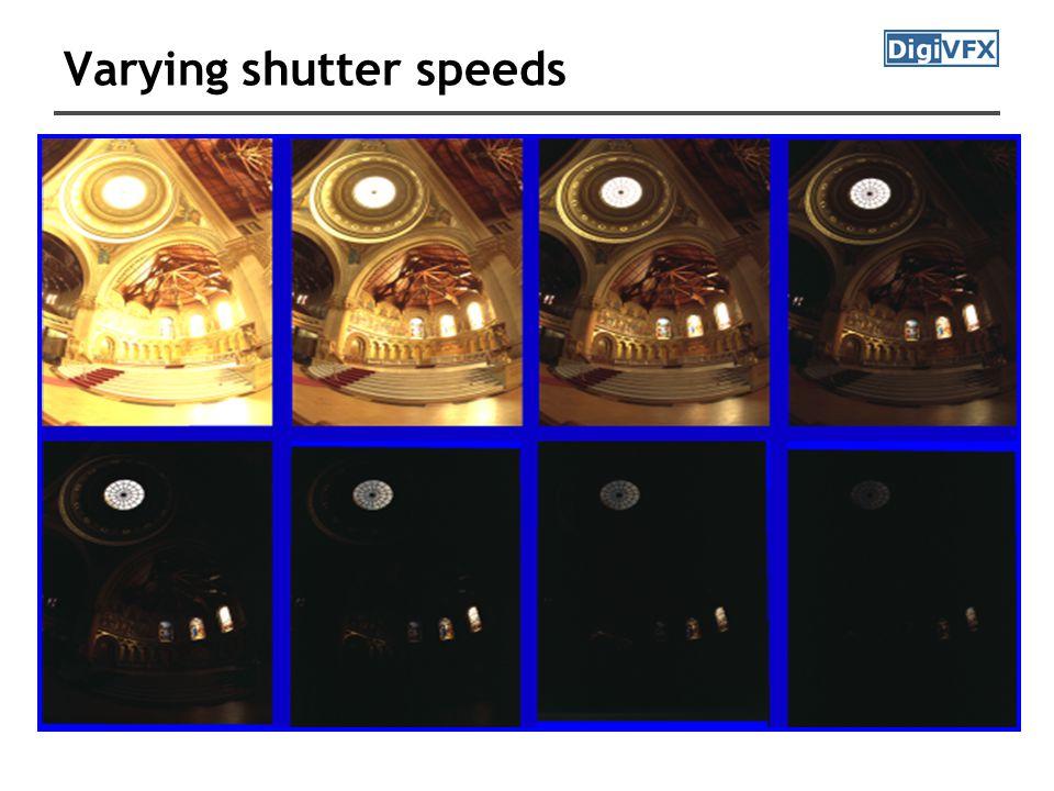 Varying shutter speeds