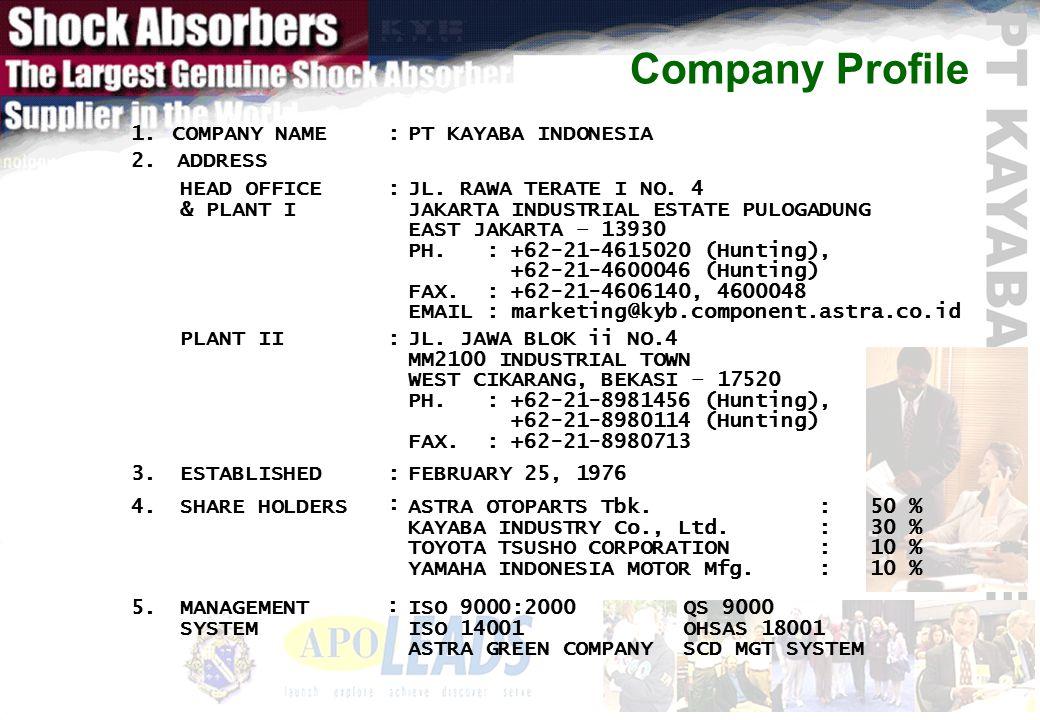 Company Profile : 50 % : 30 % : 10 % ASTRA OTOPARTS Tbk.
