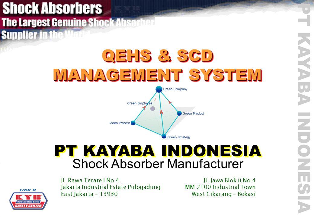 QEHS & SCD MANAGEMENT SYSTEM PT KAYABA INDONESIA Shock Absorber Manufacturer Jl.