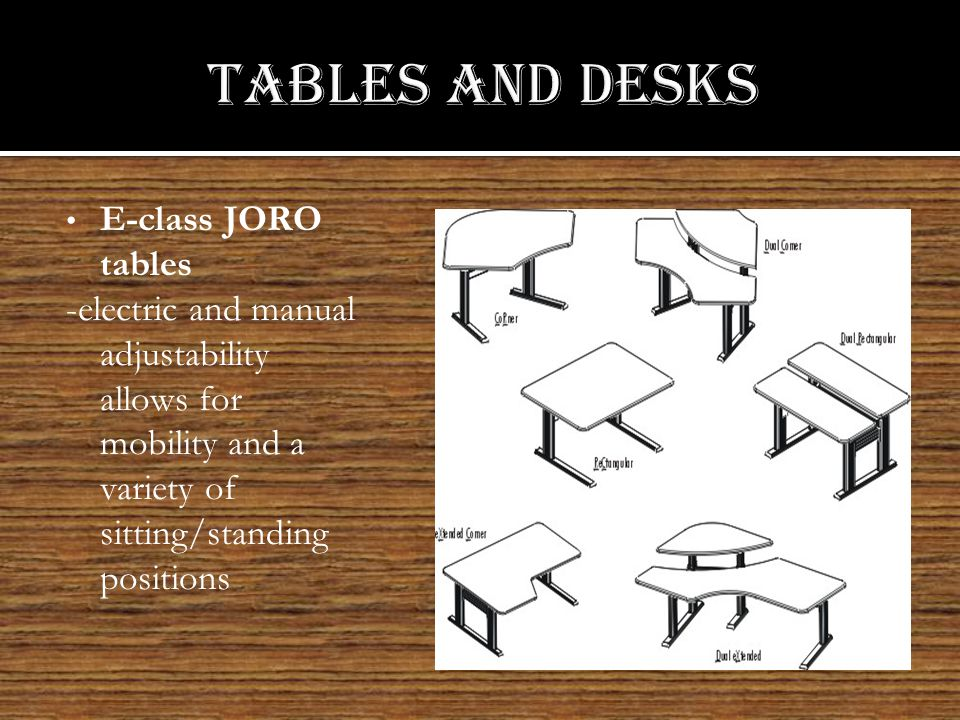 Primary Work Stations are available as right or left handed stations electric, crank or incremental adjustment.