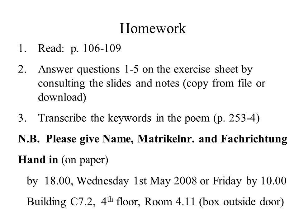 Homework 1.Read: p.