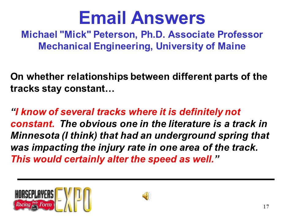17 Email Answers Michael Mick Peterson, Ph.D.