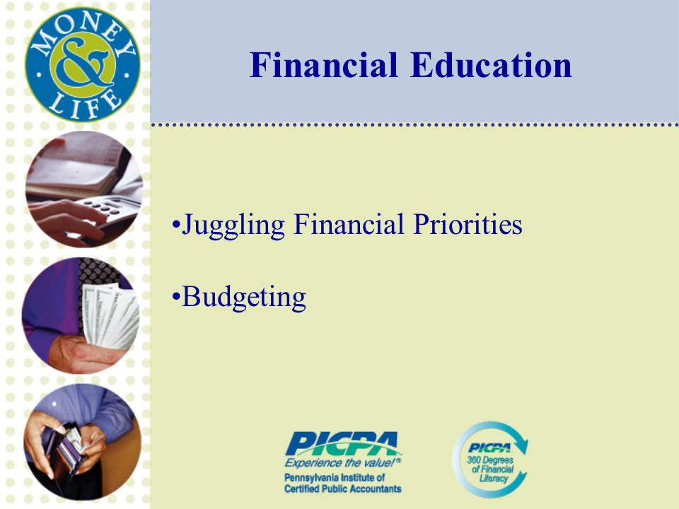 Financial Education Juggling Financial Priorities Budgeting