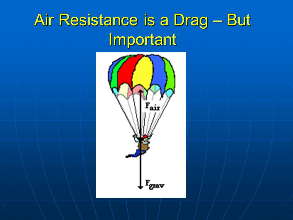 Air Resistance is a Drag – But Important