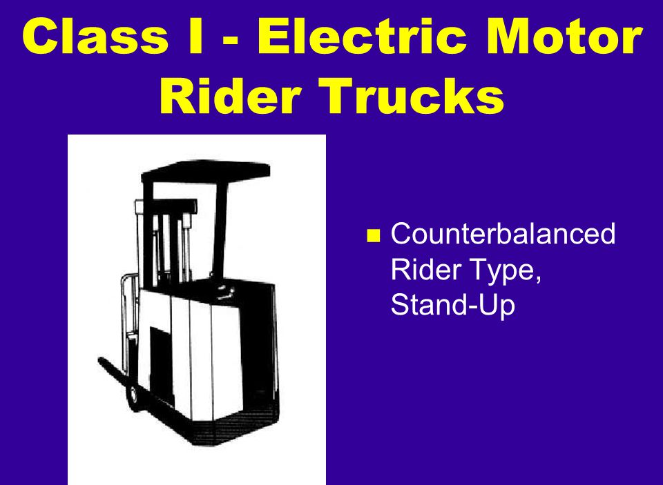 n Counterbalanced Rider Type, Stand-Up