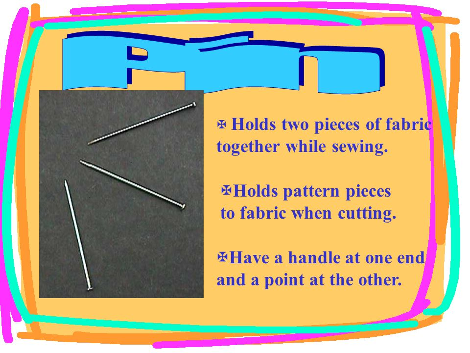  Pulls thread through the fabric.  Has an eye or hole at one end the other end is sharp.