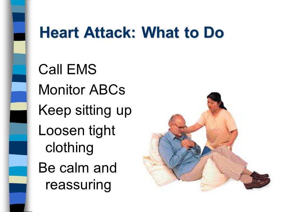 Heart Attack: What to Do Nitroglycerin.