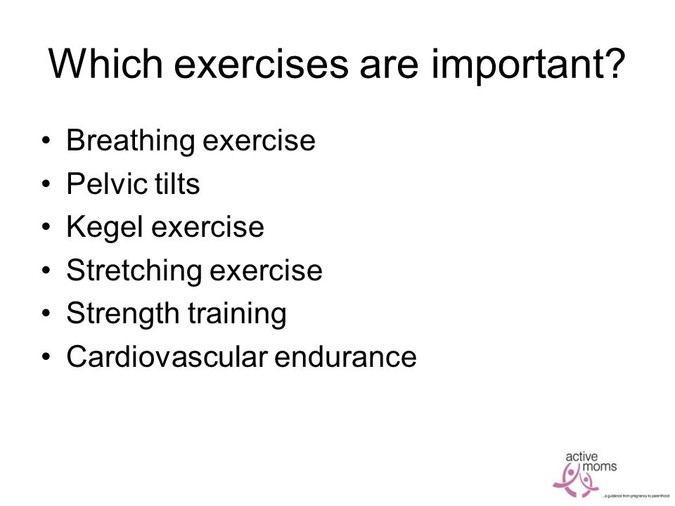 Which exercises are important.