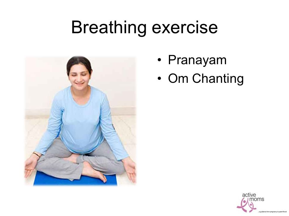 Breathing exercise Pranayam Om Chanting