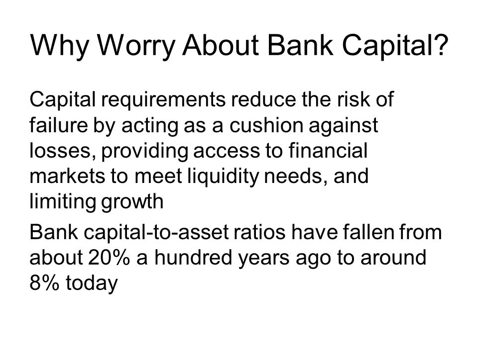 Why Worry About Bank Capital.