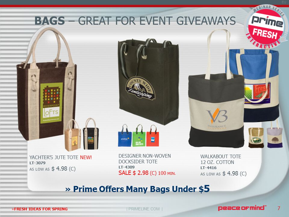 | PRIMELINE.COM | EU »FRESH IDEAS FOR SPRING 7 » Prime Offers Many Bags Under $ 5 YACHTER'S JUTE TOTE NEW.
