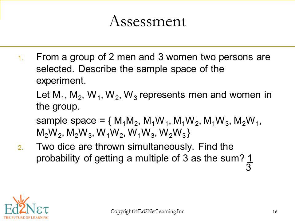 Copyright©Ed2NetLearning.Inc 16 Assessment 1.